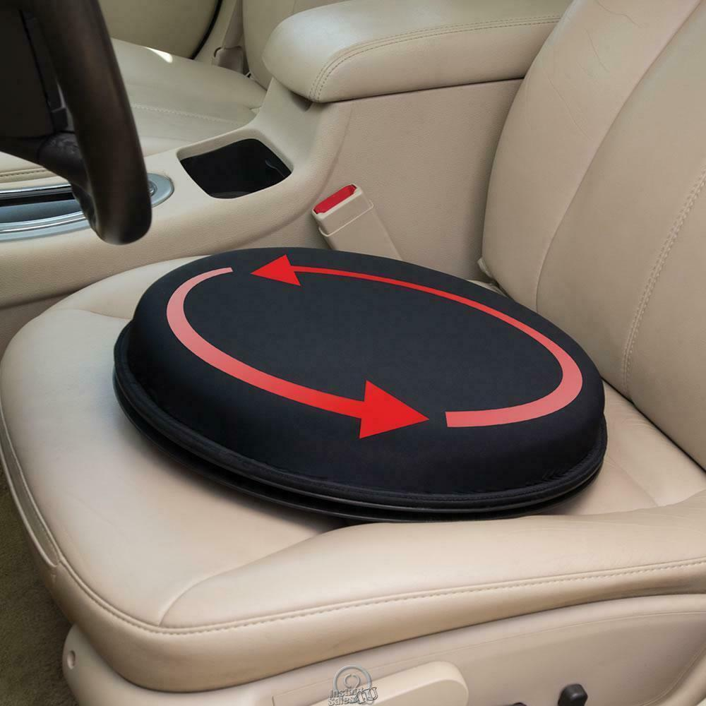 The Only Swiveling Gel Car And Chair Seat Cushion Black