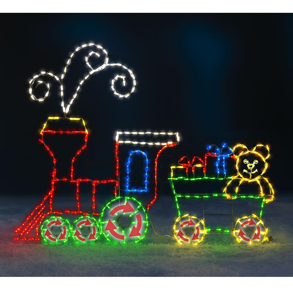 The 6 Foot Animated Holiday Locomotive Outdoor Christmas